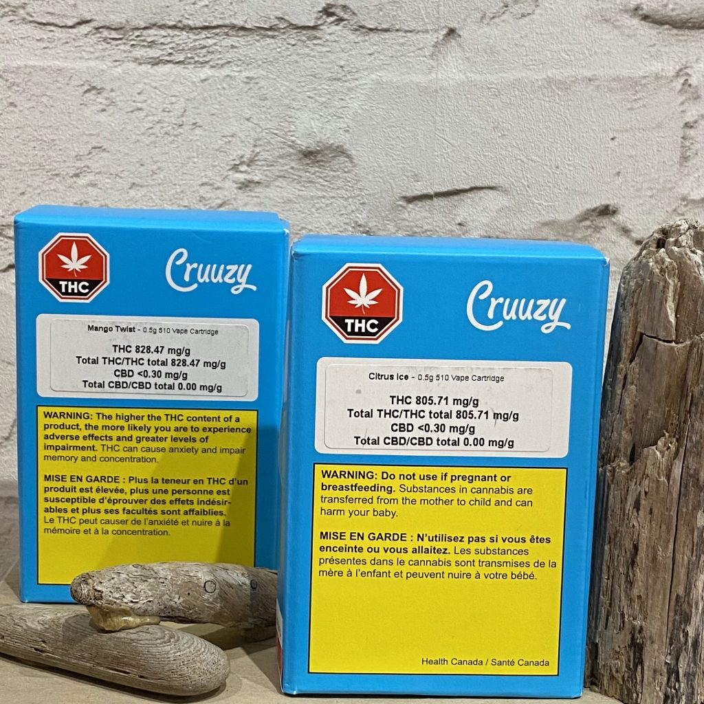 Cruuzy - Mango Twist & Citrus Ice (0.5g)Carts
