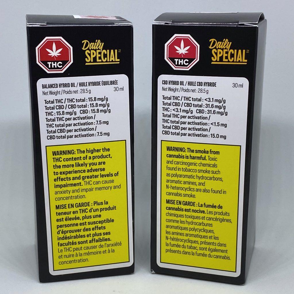 Daily Special - CBD & Balanced Oils